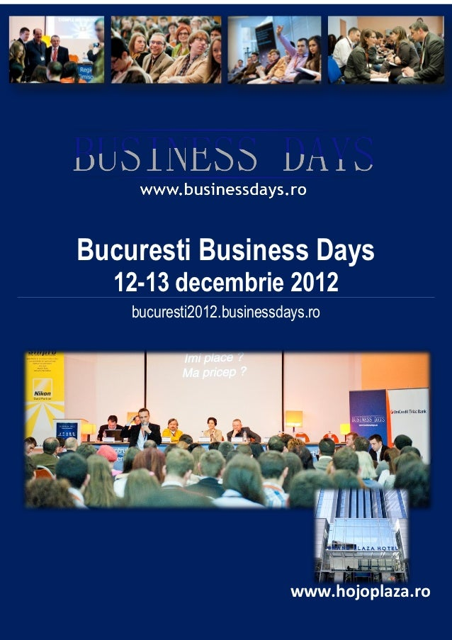 Prezentare eveniment Bucuresti Business Days v2.0