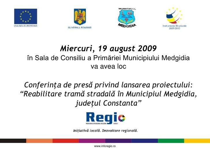 Proiect Trama stradala la Medgidia