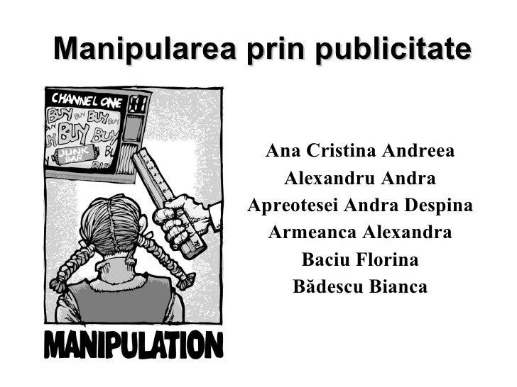 Prezentare Manipulare Prin Publicitate