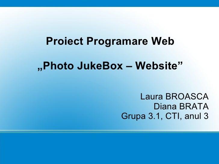 Photo JukeBox - Website
