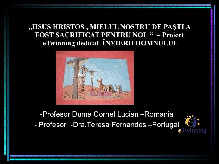 Prezentare Proiect La Simpozion Didactica Religie    Lucian Duma