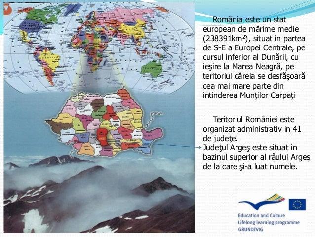 România este un stat european de mărime medie (238391km2), situat in partea de S-E a Europei Centrale, pe cursul inferior ...
