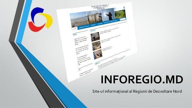 INFOREGIO.MD Site-ul informațional al Regiunii de Dezvoltare Nord