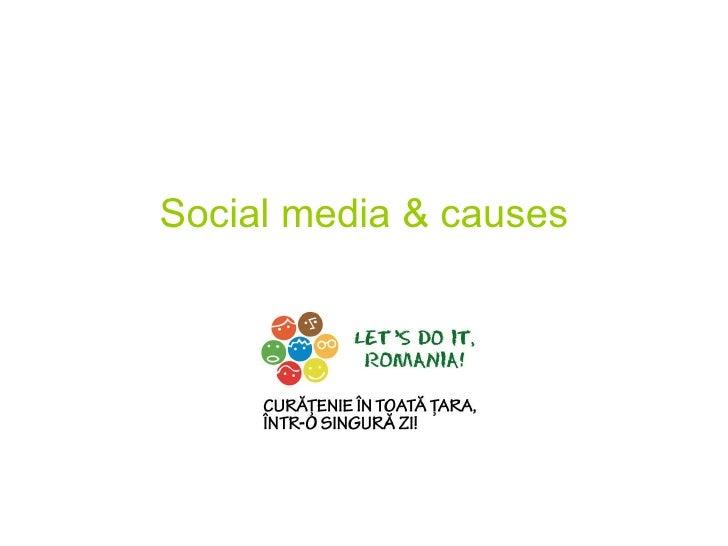 Social media & causes