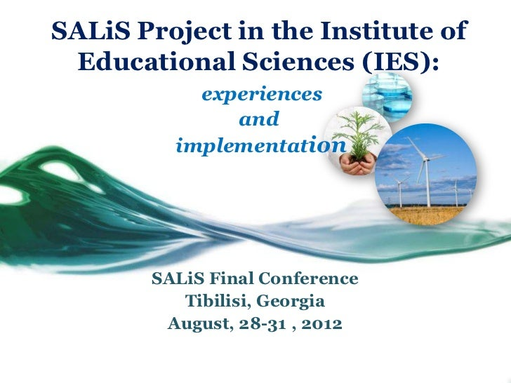 SALiS Project in the Institute of Educational Sciences (IES):           experiences              and         implementatio...