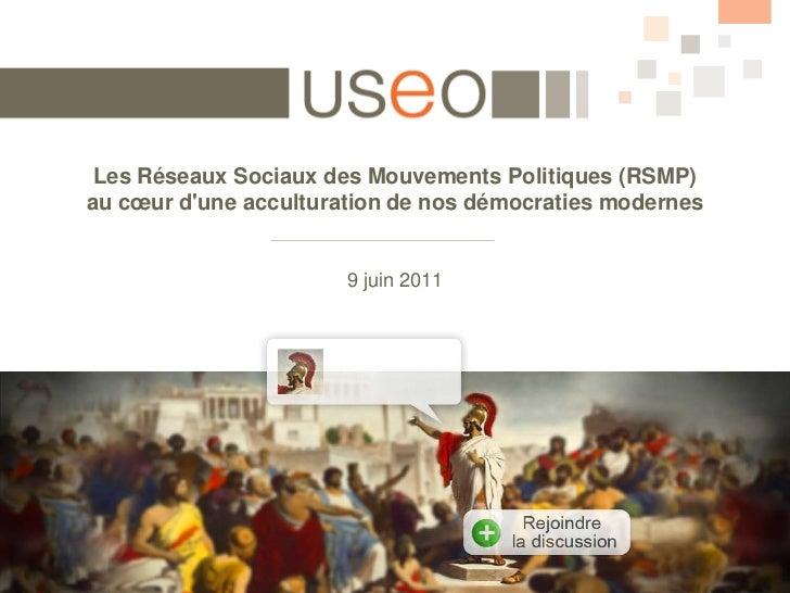 Présentation étude sur les Réseaux sociaux des mouvements politiques