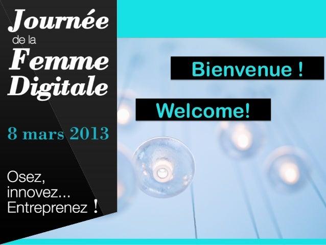 Bienvenue !Welcome!