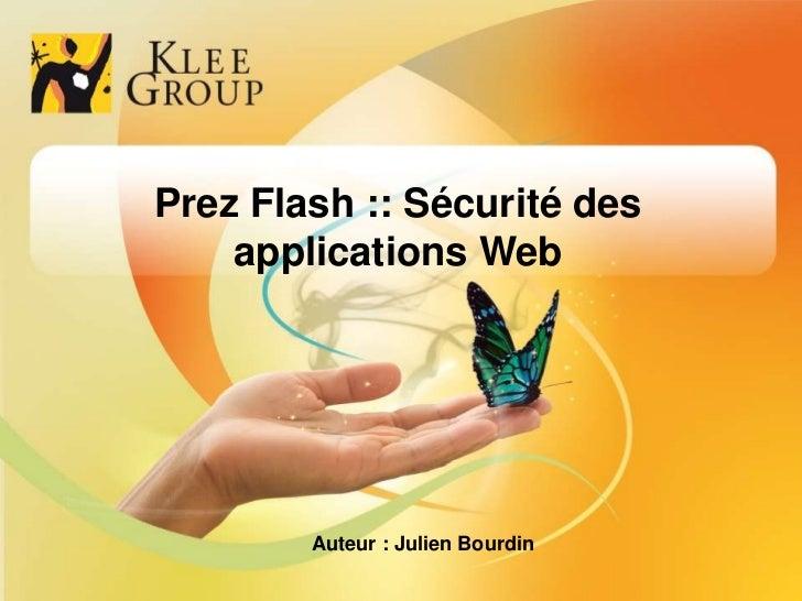Prez Flash :: Sécurité des                          applications Web                                                      ...