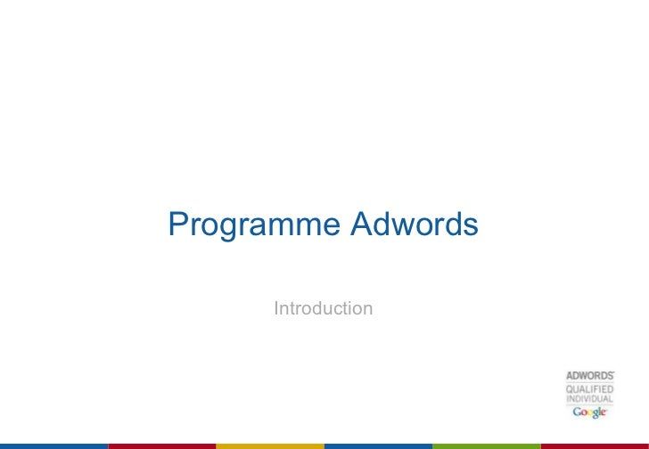 Programme Adwords Introduction