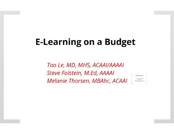 E-Learning on a Budget PDF