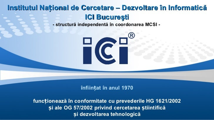 Prezentare ICI