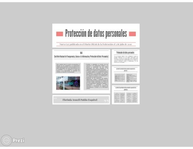 Prezi protección de datos personales