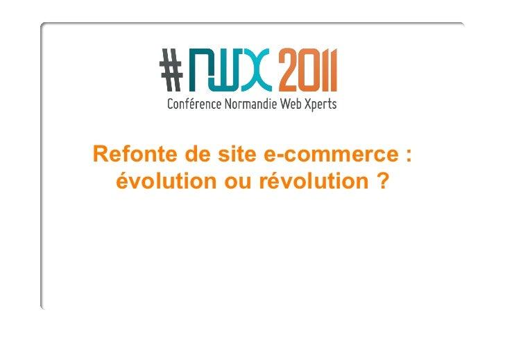 NWX2011 - Refonte de site e-commerce