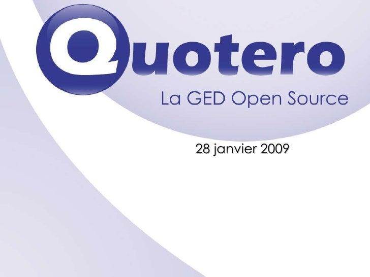 Présentation Quotero 27 Janvier