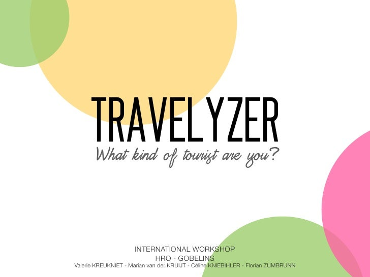TRAVELYZER     What kind of tourist are you?                     INTERNATIONAL WORKSHOP                          HRO - GOB...