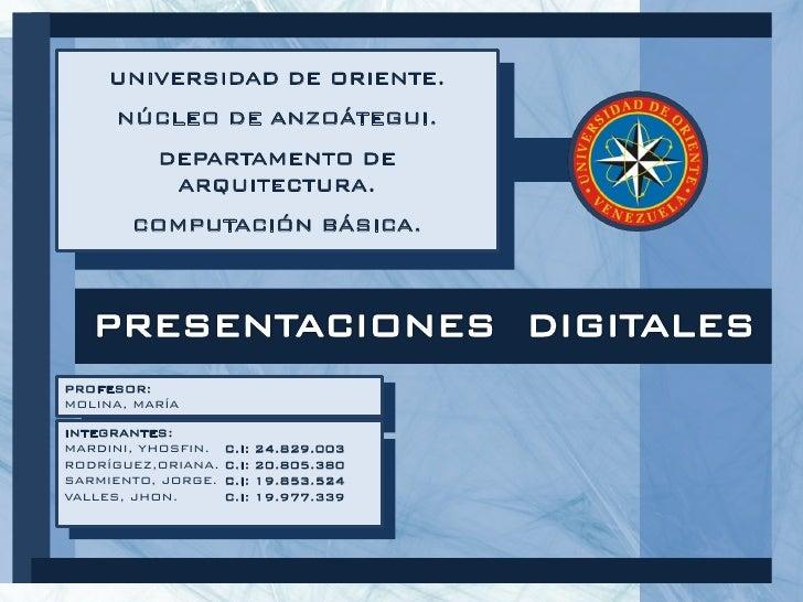 Presentaciones Digitales.