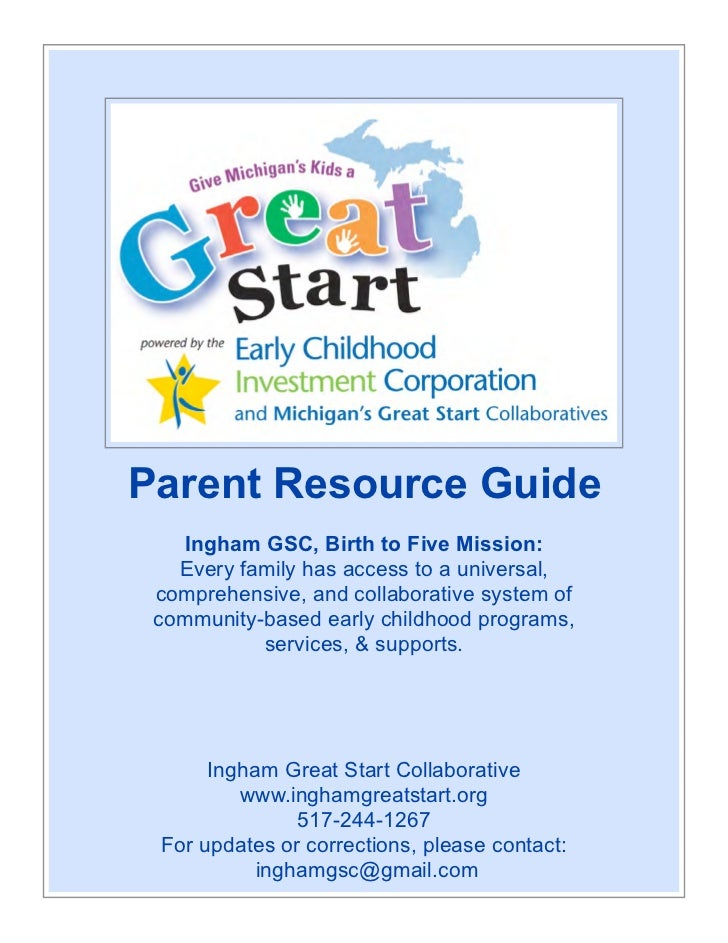 Parent Resource Guide (Updated 2-13-12)