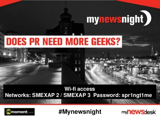 PRmoment event - Does PR need more geeks?
