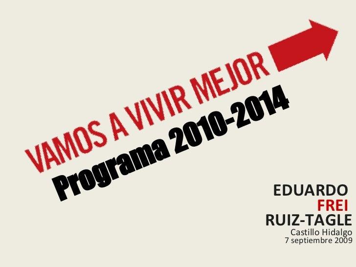 Programa de gobierno Eduardo Frei