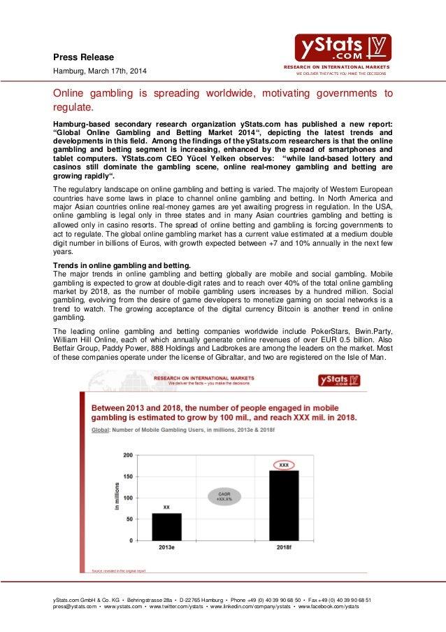 Global Online Gambling & Betting Market 2014