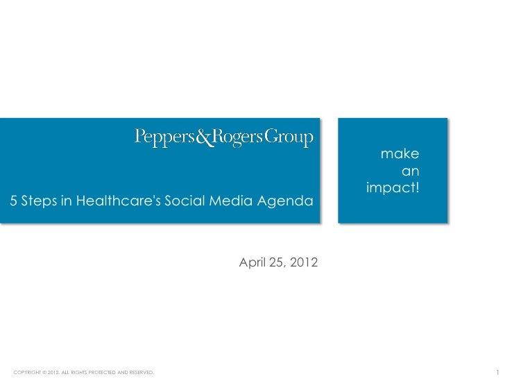 Five Steps in Healthcare's Social Media Agenda