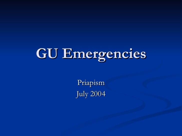 GU Emergencies Priapism July 2004