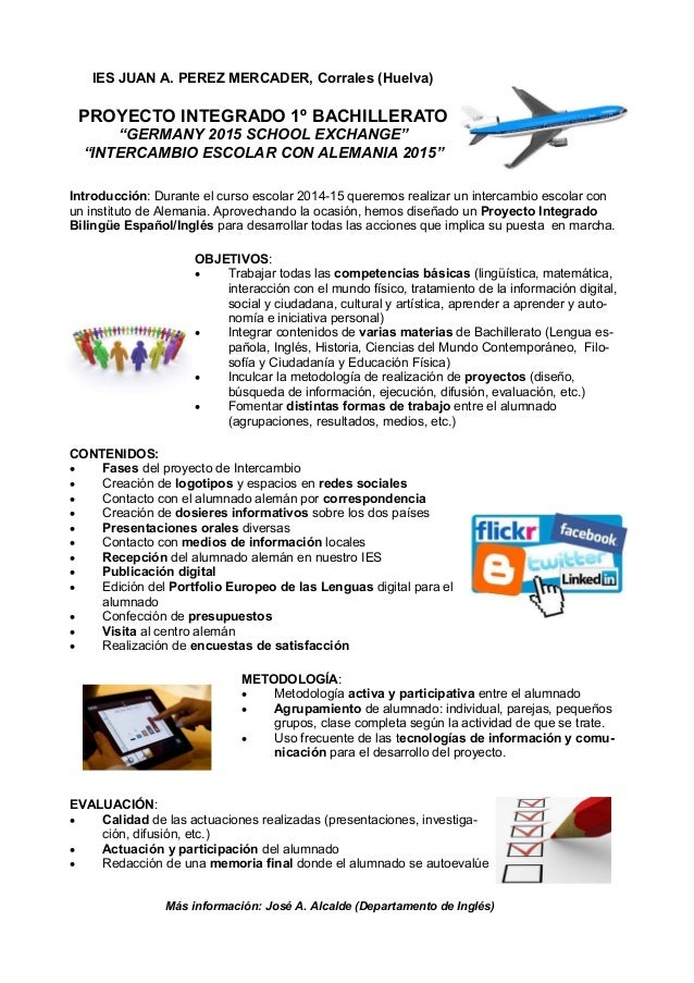 Proyecto Integrado Bilingüe Bachillerato