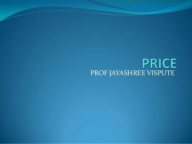 PROF JAYASHREE VISPUTE