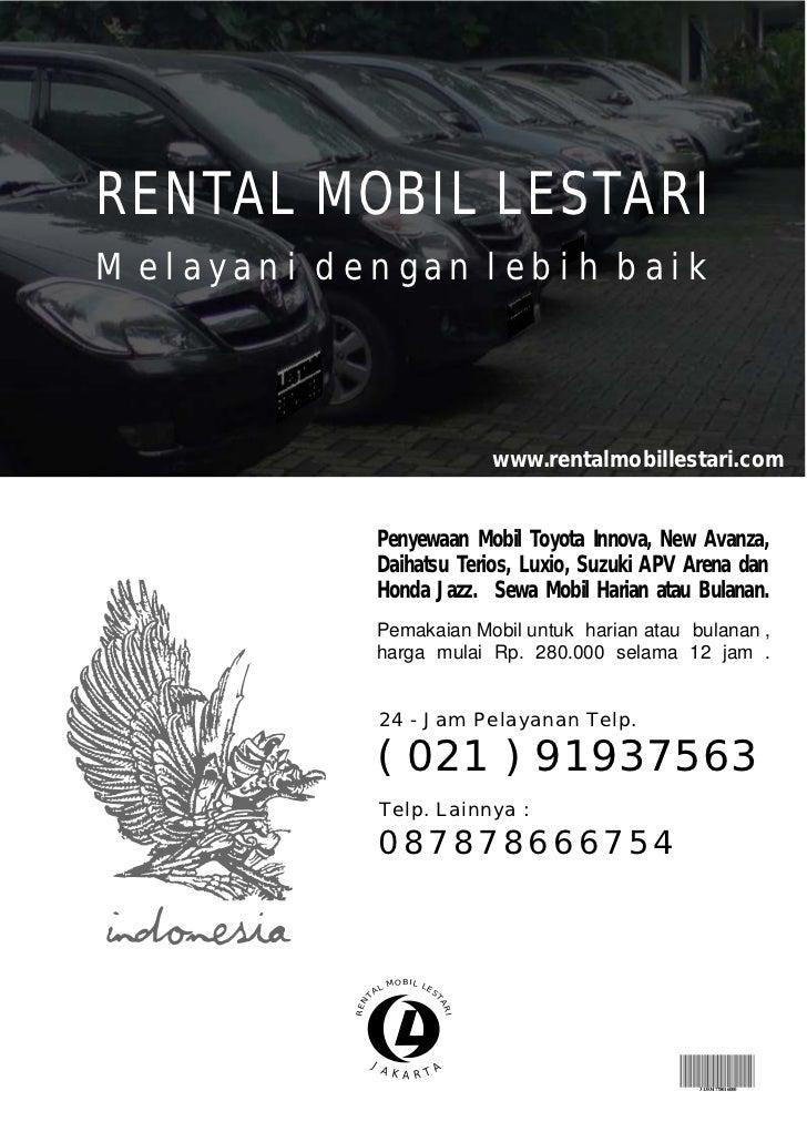 RENTAL MOBIL LESTARIMelayani dengan lebih baik                                      www.rentalmobillestari.com            ...