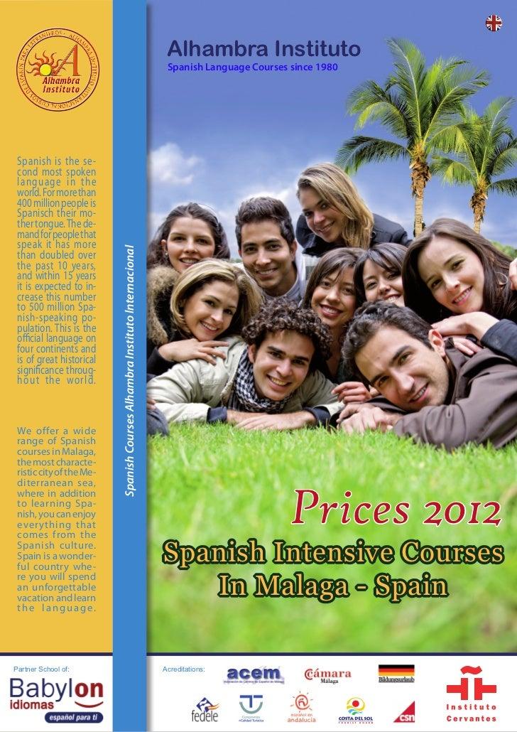Alhambra Instituto                                                                              Spanish Language Courses s...