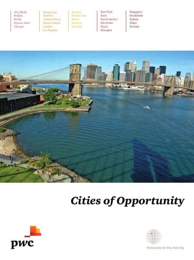 PriceWaterhouseCoopers Cities of Opportunity 2012