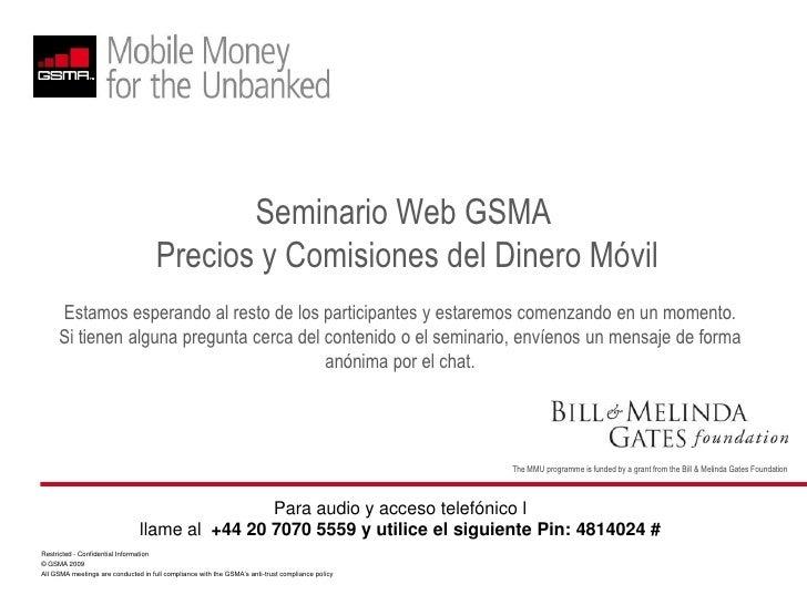 Seminario Precios y Comisiones GSMA - Espanol