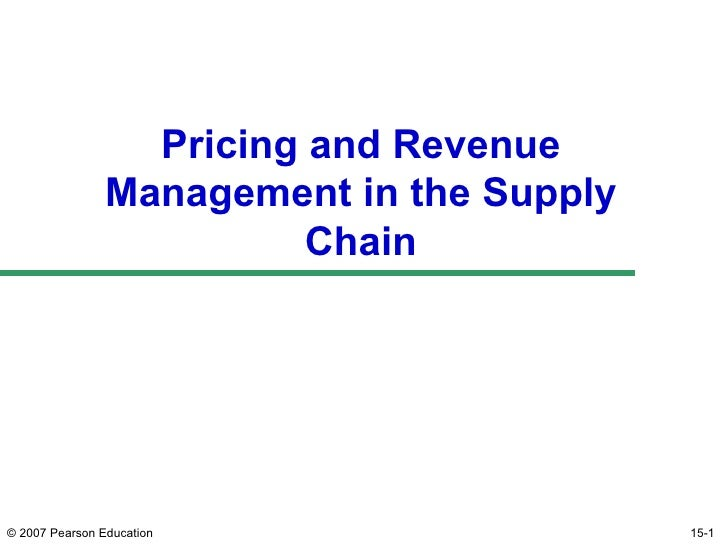 Pricing and Revenue management in SCM