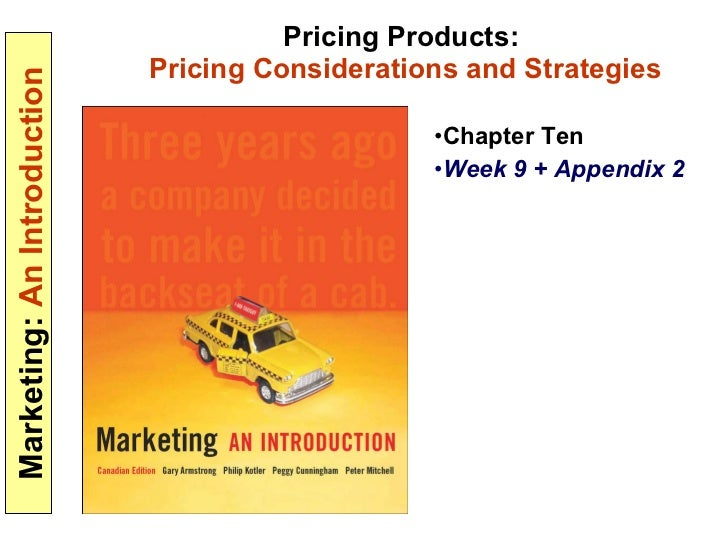 Pricing considerations strategies