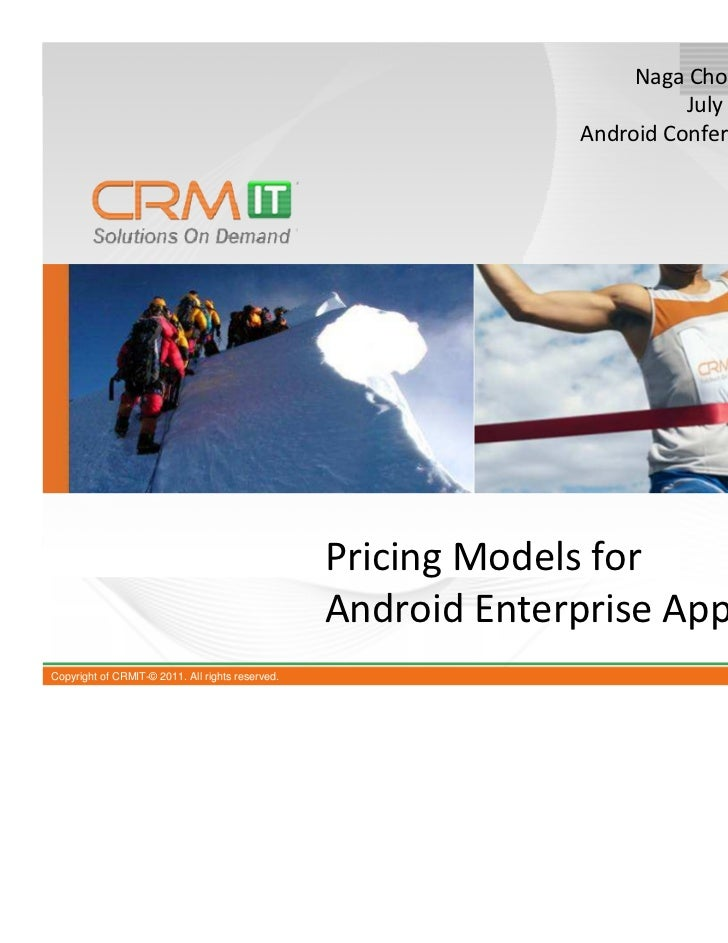 Pricing models for android enterprise applications