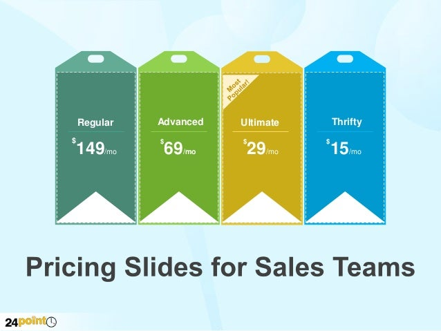Pricing Slides for Sales Teams - PowerPoint Slides