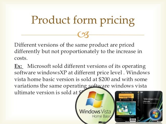 Product Forms Marketing Product Form Pricing