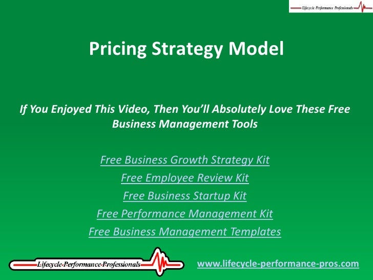Pricing Strategy Model Pricing Strategy Model