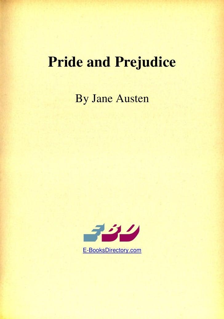 Pride andprejudice