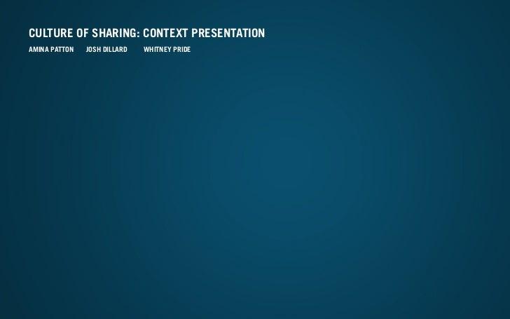 Contextualizing presentation