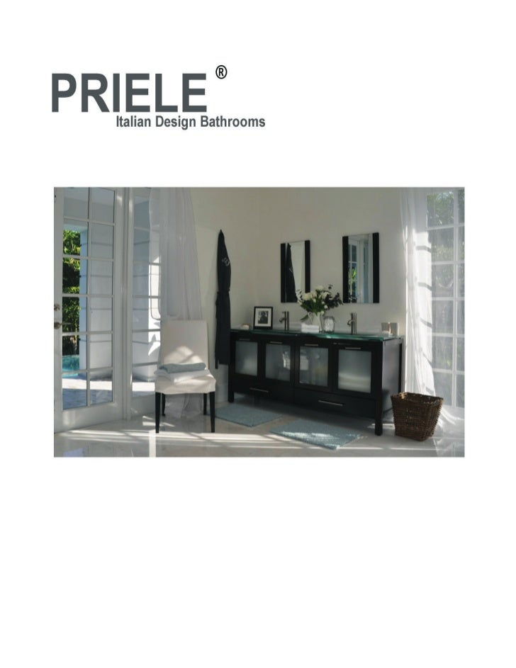 Priele catalog miami bathroom vanities cabinets shower panels for Bathroom cabinets miami