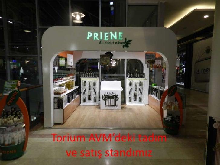 Torium AVM'deki tadım   ve satış standımız