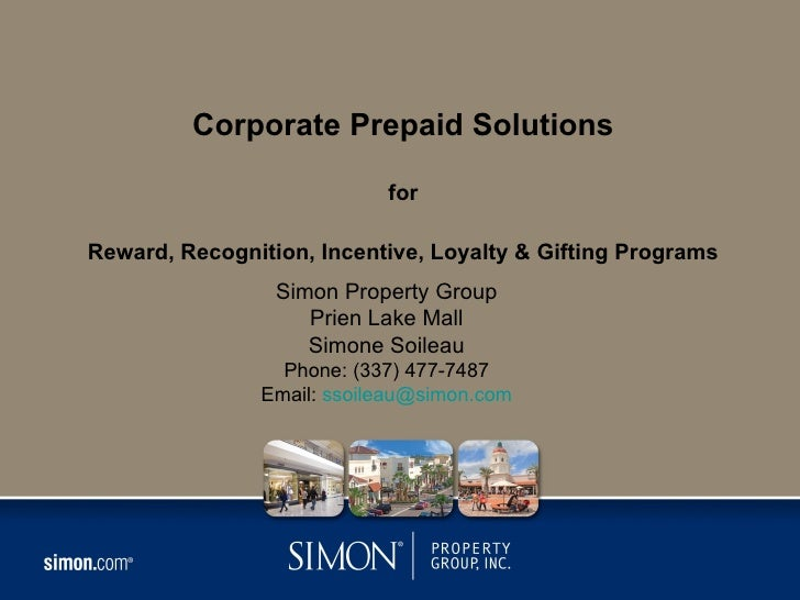 Corporate Prepaid Solutions                           forReward, Recognition, Incentive, Loyalty & Gifting Programs       ...