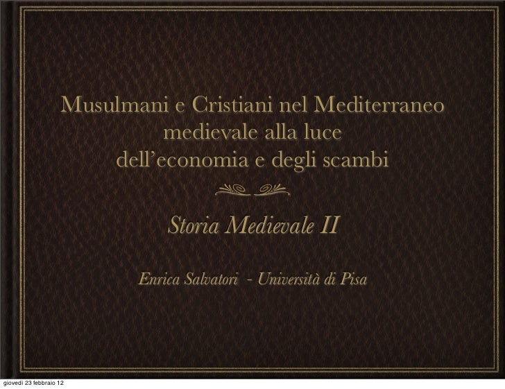 Soria Medievale II - Prima lezione