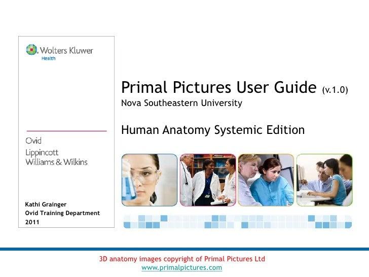 Primal Pictures User Guide (v.1.0)                             Nova Southeastern University                             Hu...