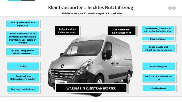 WARUM EIN KLEINTRANSPORTERWARUM EIN KLEINTRANSPORTER WarentransportWarentransport Werkstatt für Einsätze vor Ort Werkstatt...