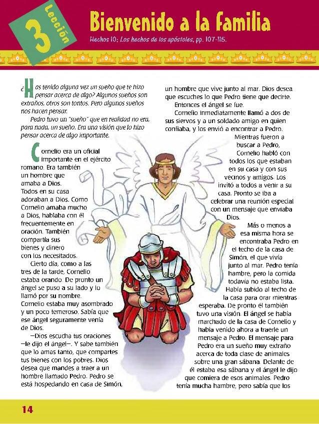 *!>ó 1% Bienvenido a la familiaHechos 10; ¿os hechos de los apóstoles, pp. 107- 115. H n as tenido alguna vez un sueño que...