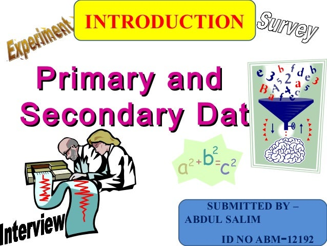Primary and secondary data in research methodology