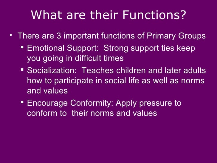 primary and secondary groups Primary and secondary groups unit 3 social structure.
