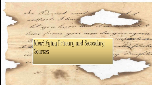 secondary research internal sources
